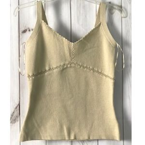 George Sleeveless Beige Knit Top Size 10 (8-10)